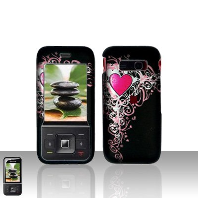 Kyocera Laylo M1400 Heart Design Case Cover Snap on Protector
