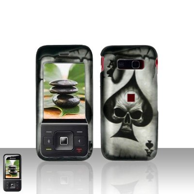 Kyocera Laylo M1400 Spade Skull Case Cover Snap on Protector