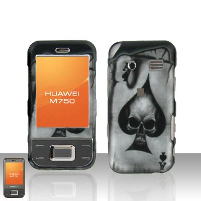 Huawei M750 Spade Skull Case Cover Snap on Protector