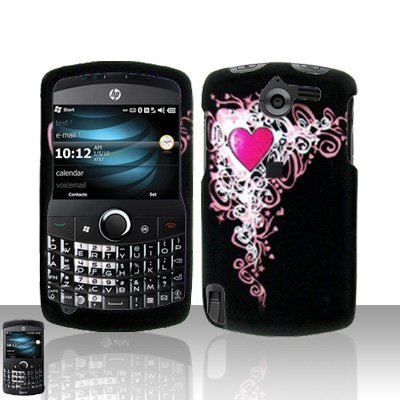 Heart Design Case Cover Snap on Protector for HP iPAQ Glisten
