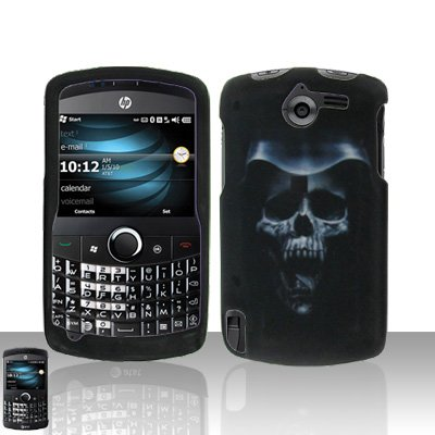 Hooded Skull Case Cover Snap on Protector for HP iPAQ Glisten