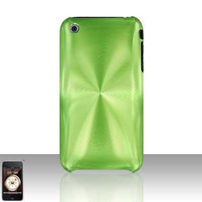 Aluminum Neon Green Back Cover Case Hard Protector for Apple iPhone 3G 3GS