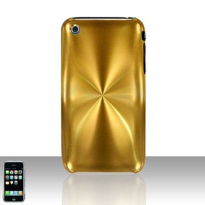 Aluminum Gold Back Cover Case Hard Protector for Apple iPhone 3G 3GS