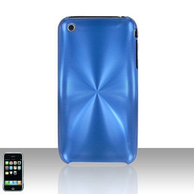 Aluminum Blue Back Cover Case Hard Protector for Apple iPhone 3G 3GS