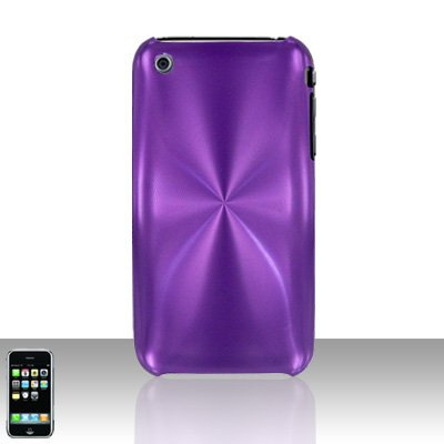 Aluminum Purple Back Cover Case Hard Protector for Apple iPhone 3G 3GS
