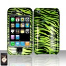 Green Zebra Cover Case Hard Snap on Protector for Apple iPhone 3G 3GS