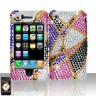 Star Design Full Diamond Cover Case Hard Snap on Protector for Apple iPhone 3G 3GS