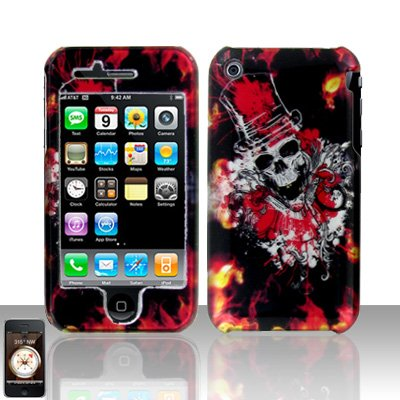 Clown Skull Cover Case Hard Snap on Protector for Apple iPhone 3G 3GS