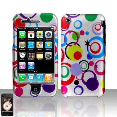 Colorful Dots Cover Case Hard Snap on Protector for Apple iPhone 3G 3GS