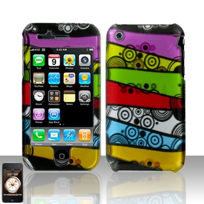 Colorful Stripes Cover Case Hard Snap on Protector for Apple iPhone 3G 3GS