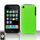 Neon Green Silicon + Hard Cover Case Snap on Protector for Apple iPhone 3G 3GS