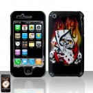 Ace Flames Skull Cover Case Hard Snap on Protector for Apple iPhone 3G 3GS