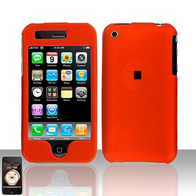 Orange Cover Case Hard Snap on Protector for Apple iPhone 3G 3GS