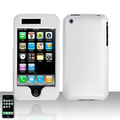 White Cover Case Hard Snap on Protector for Apple iPhone 3G 3GS