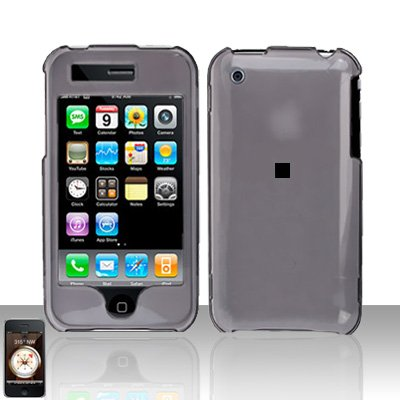Smoke Transparent Cover Case Hard Snap on Protector for Apple iPhone 3G 3GS