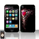 Vintage Heart Design Cover Case Hard Snap on for Apple iPhone 3G 3GS