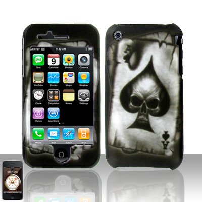 Spade Skull Cover Case Hard Snap on for Apple iPhone 3G 3GS