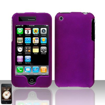 Purple Cover Case Hard Snap on for Apple iPhone 3G 3GS