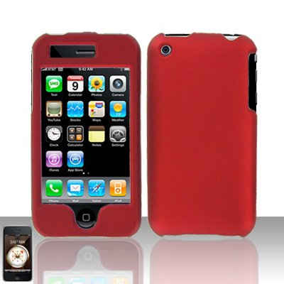 Red Cover Case Hard Snap on for Apple iPhone 3G 3GS