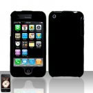Black Cover Case Hard Snap on for Apple iPhone 3G 3GS