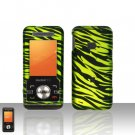 Green Zebra Case Cover Snap on Protector for ZTE C70