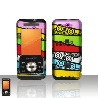 Colorful Stripes Case Cover Snap on Protector for ZTE C70