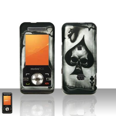 Spade Skull Case Cover Snap on Protector for ZTE C70