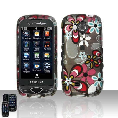 Flowers Cover Case Snap on Protector for Samsung Reality U820