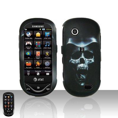 Hooded Skull Cover Case Snap on Protector for Samsung Sunburst A697