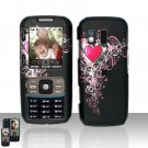 Pretty Heart Cover Case Snap on Protector for Samsung Rant M540