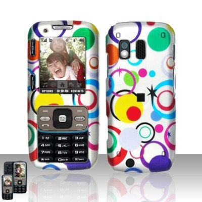 Colorful Dots Cover Case Snap on Protector for Samsung Rant M540