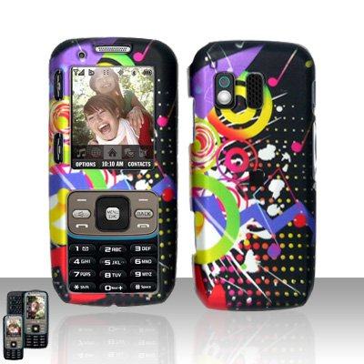Colorful Music Cover Case Snap on Protector for Samsung Rant M540