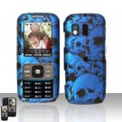 Blue Skull Cover Case Snap on Protector for Samsung Rant M540