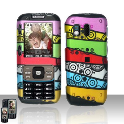 Colorful Stripes Cover Case Snap on Protector for Samsung Rant M540