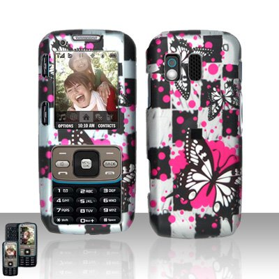 Butterflies Cover Case Snap on Protector for Samsung Rant M540