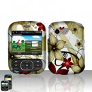 Red Flowers Cover Case Snap on Protector for LG Remarq LN240
