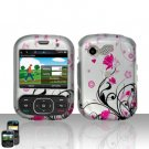 Pink Flowers Cover Case Snap on Protector for LG Remarq LN240