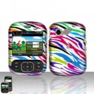 Rainbow Zebra Cover Case Snap on Protector for LG Remarq LN240