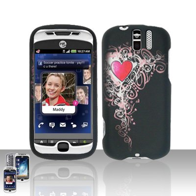 HTC myTouch Slide 3G Heart Design Case Cover Snap on Protector