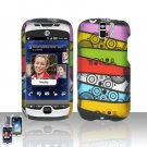 HTC myTouch Slide 3G Colorful Stripes Case Cover Snap on Protector