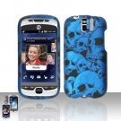 HTC myTouch Slide 3G Blue Skulls Case Cover Snap on Protector