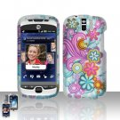 HTC myTouch Slide 3G Colorful Flowers Case Cover Snap on Protector