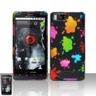 Motorola Droid X MB810 Colorful Paint Case Cover Snap on Protector
