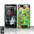 Motorola Droid X MB810 Lady Bugs Case Cover Snap on Protector