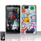 Motorola Droid X MB810 Colorful Dots Case Cover Snap on Protector