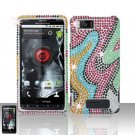 Motorola Droid X MB810 Rainbow Full Diamond Case Cover Snap on Protector
