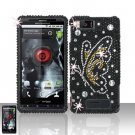 Motorola Droid X MB810 Butterfly Full Diamond Case Cover Snap on Protector