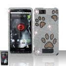 Motorola Droid X MB810 Paws Full Diamond Case Cover Snap on Protector