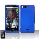 Motorola Droid X MB810 Blue Case Cover Snap on Protector