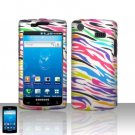 Samsung Captivate i897 Rainbow Zebra Case Cover Snap on Protector